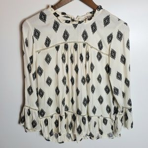 Lucky Brand Bell Sleeve Top